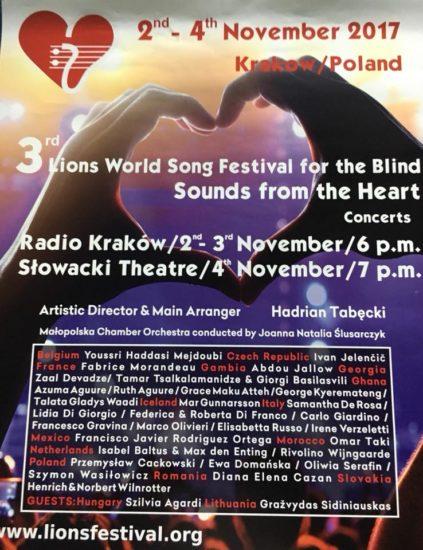 Il manifesto del poster con le informazioni dello show, località e nomi di tutti i partecipanti.