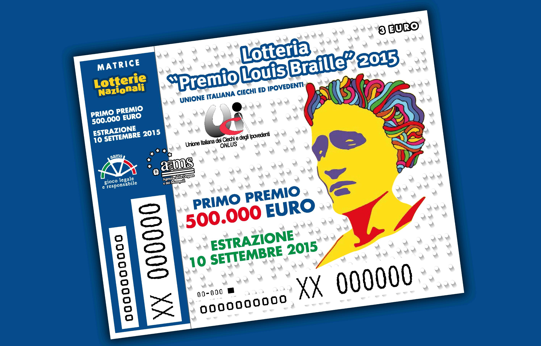 Biglietto lotteria Louis Braille