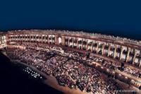 Arena Sferisterio di Macerata al crepuscolo serale